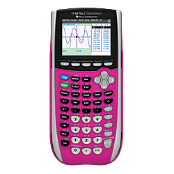 Texas Instruments(R) TI-84 Silver Edition Color Graphing Calculator, Pink