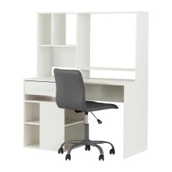 South Shore Annexe 2-Piece Desk And Office Chair Set, White/Gray
