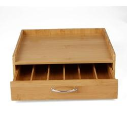 Mind Reader Bamboo K-Cup(R) Pods Drawer With Lip Panel, 3 7/8in.H x 12 7/8in.W x 12in.D, Brown