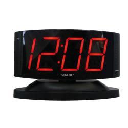 Sharp (R) LED Alarm Clock, Black
