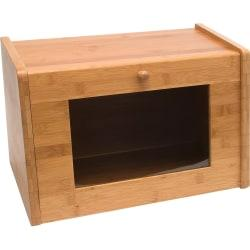 Lipper Bamboo Bread Box with Tempered Glass Window