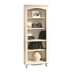 Sauder(R) Harbor View 5-Shelf Bookcase, Antiqued White