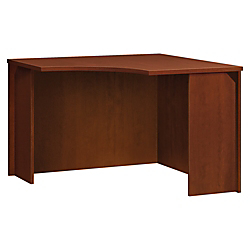 basyx by HON BL Series Corner Unit - 36in. x 42in. x 29in., Top - Flat Edge - Finish: Medium Cherry Top, Thermofused Laminate (TFL) Top
