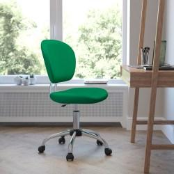 Flash Furniture Mesh Mid-Back Swivel Task Chair, Bright Green/Silver