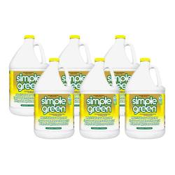 Simple Green All-Purpose Industrial Cleaner/Degreaser, Lemon, 1 gallon Bottle, Six bottles of cleaner/deodorizer per Case, Sold by the Case