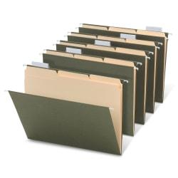 Office Depot(R) Brand Hanging File Folder/File Folder Combo Kit, 3/4in. Expansion, Letter Size, 100% Recycled, Manila/Standard Green