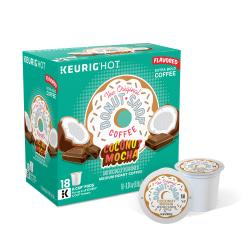Donut Shop Coconut Mocha Coffee K-Cup Pods, 4 oz, Pack of 18
