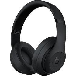 Beats by Dr. Dre Studio3 Wireless Over-Ear Headphones - Matte Black - Stereo - Mini-phone - Wired/Wireless - Bluetooth - Over-the-head - Binaural - Ci