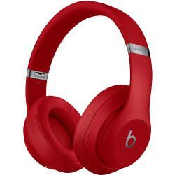 Beats by Dr. Dre Studio3 Wireless Over-Ear Headphones - Red - Stereo - Mini-phone - Wired/Wireless - Bluetooth - Over-the-head - Binaural - Circumaura
