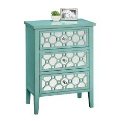Sauder(R) Shoal Creek Storage Chest, 3 Drawers, Seafoam Green