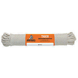 Smooth, non-scoring surface for use as gaskets and packing Solid braided cover with cotton core 039-100-05 5/16X100 COTTON SASH CORD is one of many Strapping Materials & Twine available through Office Depot. Made by Tiger.