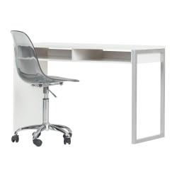 South Shore Interface 2-Piece Desk And Office Chair Set, Pure White/Smoked Gray