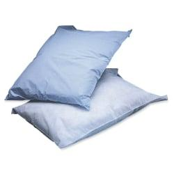 Medline Disposable Pillow Covers, 21in. x 30in., Blue, Box Of 100