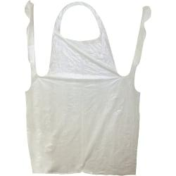 Impact Products ProGuard Disposable 42in. Poly Apron - Polyethylene - For Food Handling, Food Service, Manufacturing - White - 1000 / Carton