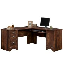 Sauder(R) Harbor View Collection Corner Computer Desk, Curado Cherry