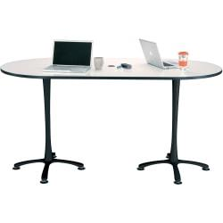 Safco Electric Height-adjustable Teaming Table Top - Powder Coated, White Rectangle Top - 72in. Table Top Length x 36in. Table Top Width x 1in. Table Top Thickn