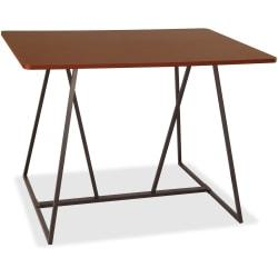 Safco Oasis Standing-Height Teaming Table - High Pressure Laminate (HPL), Cherry - 60in. Table Top Width x 48in. Table Top Depth - 42in. Height - Assembly Requi