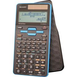 Sharp EL-W535TGBBL Scientific Calculator with WriteView(TM) 4 Line Display - 422 Functions - Sign Change, Independent Memory, Dual Power, Protective Hard Shell