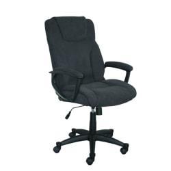 Serta Style Hannah II High-Back Office Chair, Microfiber, Midnight Black/Black