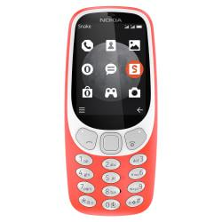 Nokia 3310 TA-1036 Cell Phone, Warm Red