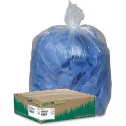 Webster Coreless Heavy-duty Can Liners - Large Size - 45 gal - 40in. Width x 46in. Length x 1.50 mil (38 Micron) Thickness - Low Density - Clear - Resin - 100/C