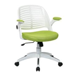 Ave Six Tyler Polyester Mid-Back Office Chair, Green/White