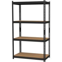 Hirsh(R) Iron Horse 2,300-Lb Capacity Steel Shelving Unit, 4-Shelves, Black