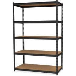 Hirsh(R) Iron Horse 2,300-Lb Capacity Steel Shelving Unit, 5-Shelves, Black