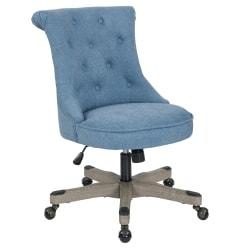 Office Star(TM) Hannah Tufted Office Chair, Sky/Gray