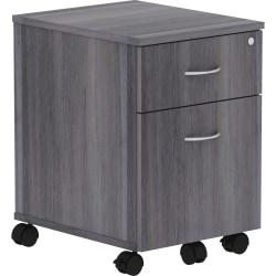 Lorell(R) Relevance Series 2-Drawer Mobile File Cabinet, 23in.H, Charcoal