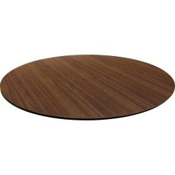 Lorell(R) Laminate Knife-Edge Round Conference Table Top, 42in.W, Walnut