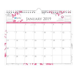 Blue Sky(TM) Breast Cancer Awareness Monthly Wall Calendar, 11in. x 8 3/4in., January to December 2019