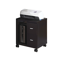 Monarch Specialties Mobile Office Cabinet, Cappuccino