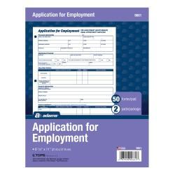 upc 087958196610 adams r application for employment bilingual