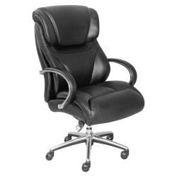 La-Z-Boy Executive Chair - Black - Faux Leather - 32.8in. Width x 27.8in. Depth x 45.3in. Height
