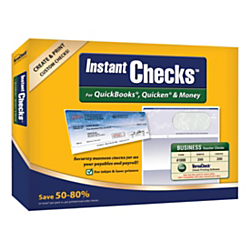 VersaCheck(R) Instant Checks Software And Business Voucher Check Paper Bundle For QuickBooks(R), Quicken(R) And Money, Traditional Disc