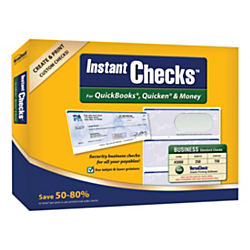 VersaCheck(R) Instant Checks Software And Business Standard Check Paper Bundle For QuickBooks(R), Quicken(R) And Money, Traditional Disc