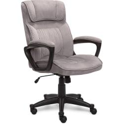 Serta Style Hannah I High-Back Office Chair, Microfiber, Comfort Light Gray/Black