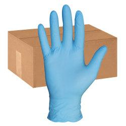 ProGuard XXL Disposable Nitrile Gloves - Chemical Protection - XXL Size - Nitrile - Blue - Disposable, Powder-free, Textured Grip, Puncture Resistant, Beaded Cu