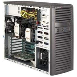 Supermicro SuperWorkstation 7037A-IL Barebone System - 3U Mid-tower - Intel C602 Chipset - Socket B2 LGA-1356 - 2 x Processor Support - Black