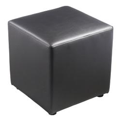 Lorell(R) Collaborative Seating Cube Chair, Bonded Leather, Black