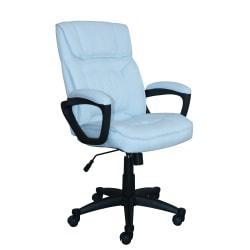 Serta Style Hannah I High-Back Office Chair, Microfiber, Comfort Blue/Black