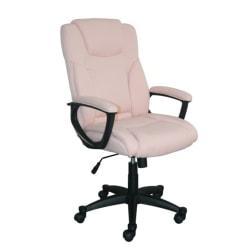 Serta Style Hannah II High-Back Office Chair, Microfiber, Harvard Pink/Black