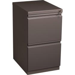 Lorell(R) 19 7/8in.D Mobile Letter-Size Pedestal File Cabinet, File/File, Medium Tone