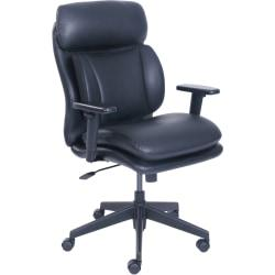 Lorell InCite Task Chair - Bonded Leather Black Seat - Bonded Leather Black Back - 5-star Base - 21in. Seat Width x 18.25in. Seat Depth - 27.5in. Width x 26.8in