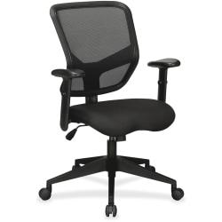Lorell(R) Executive Mesh/Fabric Mid-Back Chair, Black