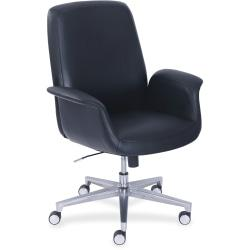 La-Z-Boy ComfortCore Gel Seat Collaboration Chair - Faux Leather Black Seat - Faux Leather Black Back - 20.3in. Width x 29in. Depth x 48in. Height