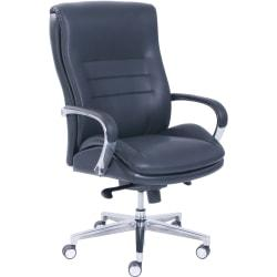 La-Z-Boy ComfortCore Gel Seat Executive Chair - Faux Leather Black Seat - Faux Leather Black Back - 28.5in. Width x 25.3in. Depth x 47.3in. Height