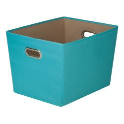 Honey-Can-Do Large Decorative Storage Bin With Handles, 18 1/2in.L x 14 3/8in.W x 12 5/8in.H, Blue