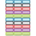 Ashley Dry Erase Dotted Nameplate Magnets